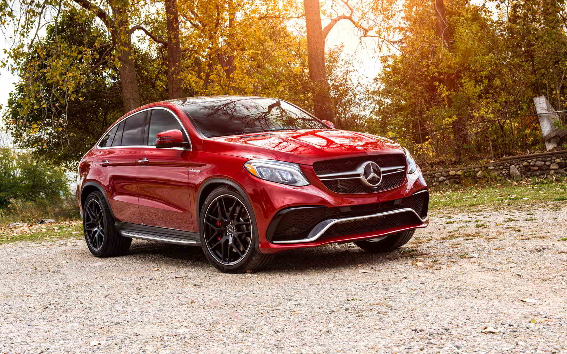 red mercedes amg car wallpaper
