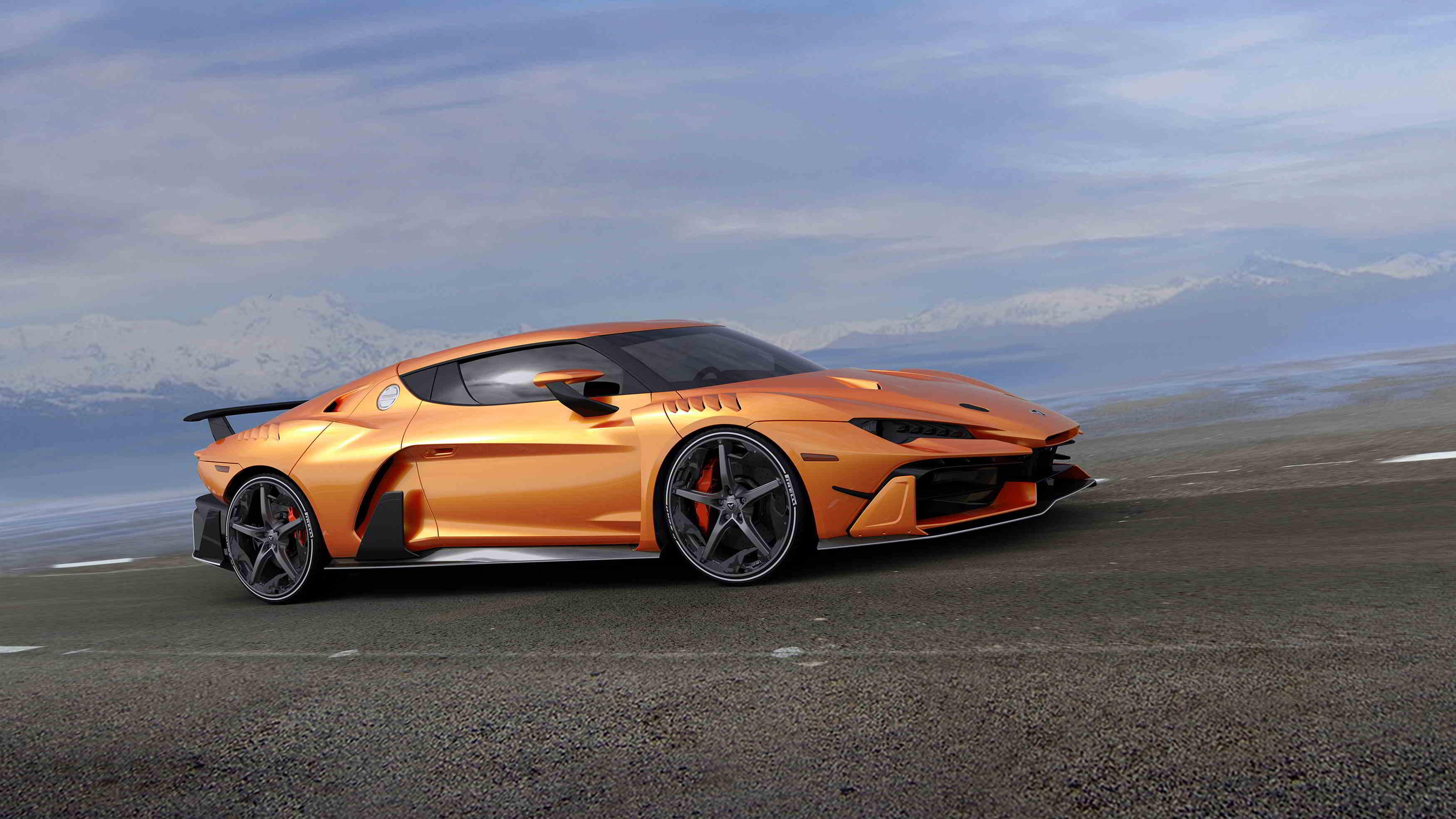 italidesign zerouno concept car orange