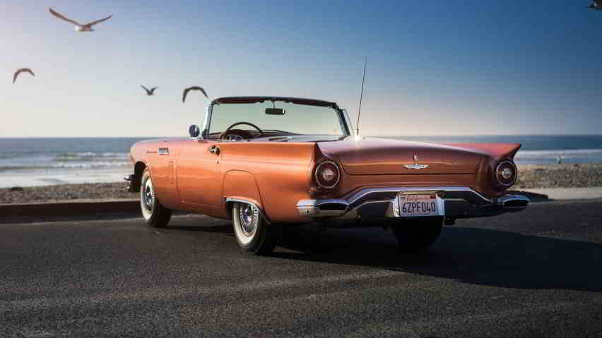 ford thunderbird orange wallpaper