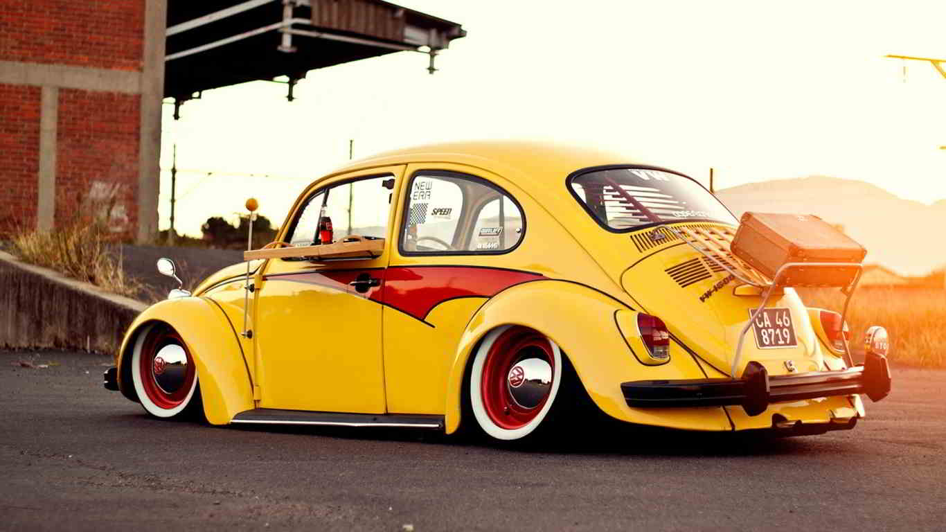 yellow volkswagen beetle classic car wallpapers