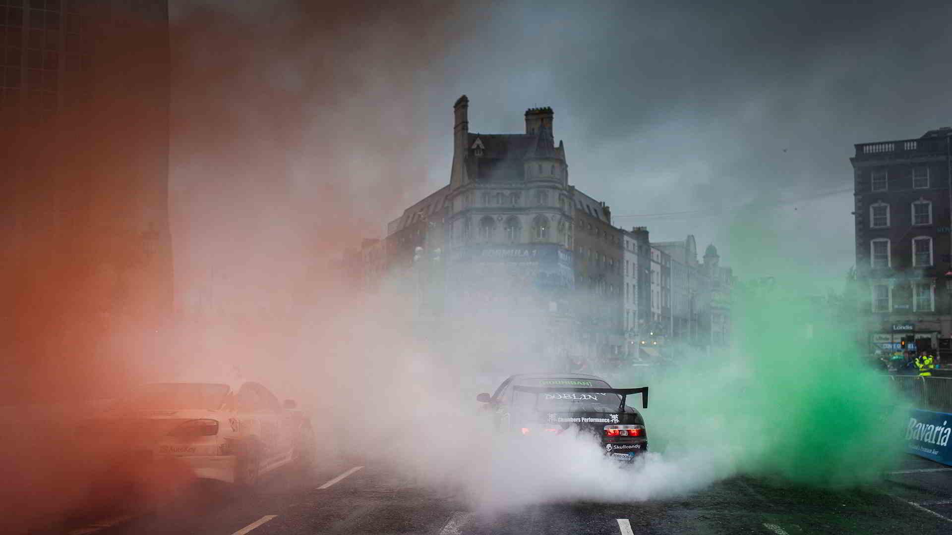 burnout smoke car wallpaper