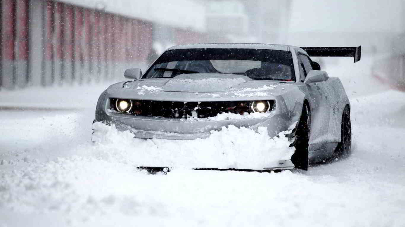 chevrolet camaro snow wallpaper