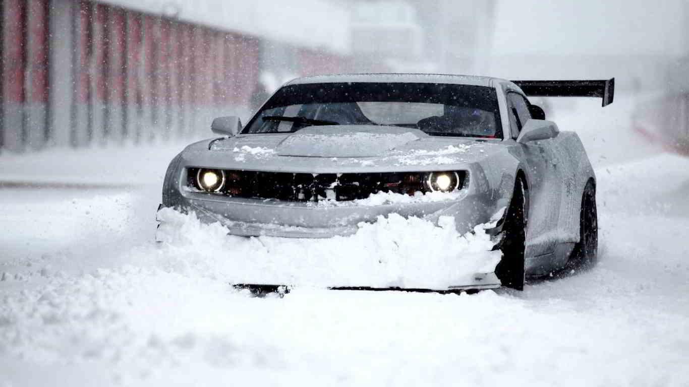 chevrolet camaro snow wallpaper