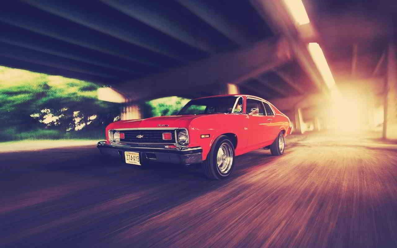 Red Vintage Chevy wallpaper